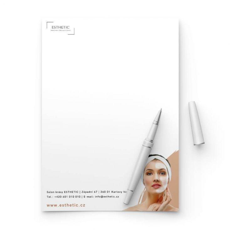 Tiskneme nejlevnější firemní hlavičkový papír A5 on-line
