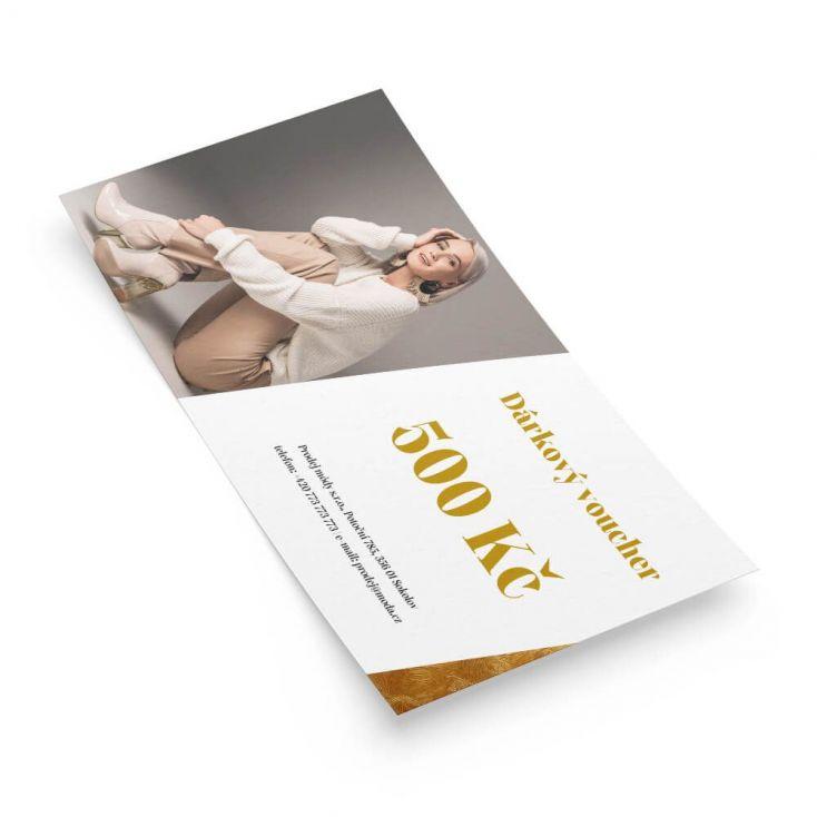 Rychlá a levná výroba s tiskem dárkových poukazů včetně jednoduché tvorby online